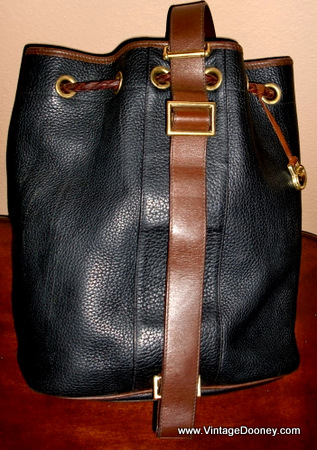 Vintage Dooney Drawstring Sling Bag