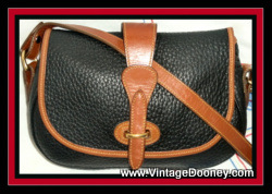 Vintage Black & Tan Tack Bag Dooney & Bourke AWL