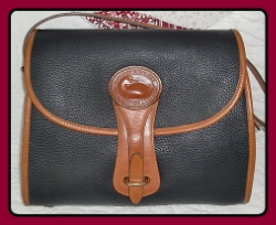 Stunning Regal Black Large Dooney & Bourke Essex Shoulder Bag-Vintage Dooney and Bourke 