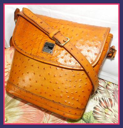 Bayou Collection  Ostrich Dooney Bourke  Large Flap Bag