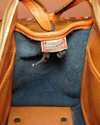 Blue Vintage Dooney Satchel Shoulder Bag