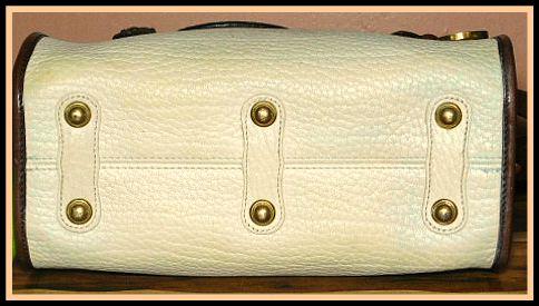 Bone Vintage Dooney Mini Satchel Shoulder Bag