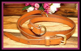 "Vintage AWL Shoulder Bag Strap & D-Rings Set 1""-Vintage AWL Shoulder Bag Strap & D-Rings"
