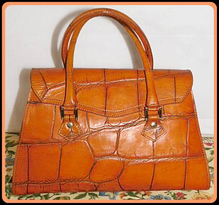 Vintage Dooney Leather Croc Satchel