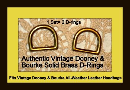 Vintage Dooney D-Rings