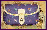 Glorious Grape New Dooney Flap Wrislet-Dooney and Bourke