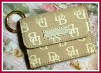 Crisp Oatmeal DB Signature All in One Wallet-Dooney and Bourke