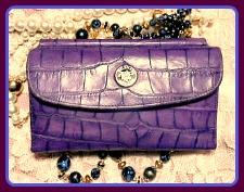 Exotic Indigo Bayou Wallet Organizer Vintage Dooney-Wallet Organizer Bayou Vintage Dooney,Vintage Dooney and Bourke  Bayou Collection  Framed Checkbook Organizer Wallet