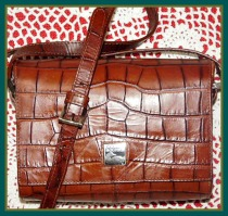 Luxurious Bayou Binocular Bag Dooney Bourke-Alligator embossed calfskin,Mini Binocular Bag