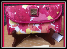 Lip Smacking Tropical Floral Wallet Dooney Bourke NEW!-Dooney and Bourke 