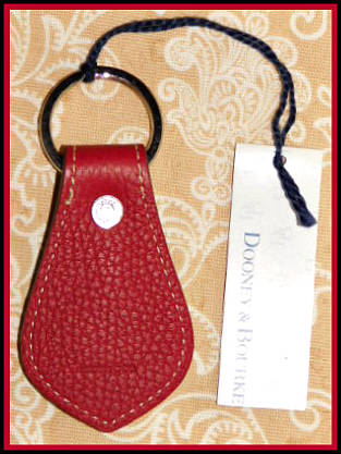 Dooney and Bourke All Weather Leather  New Vintage Collection     Leather Duck Key Fob