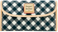 Country Love Black Licorice Twist Gingham Continental Clutch Wallet NEW!-Dooney & Bourke  Canvas Fabric Continental Clutch Wallet,black and white gingham wallet, dooney wallet