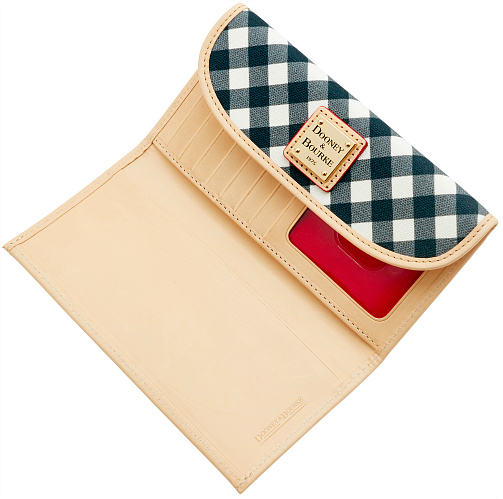 Dooney & Bourke  Canvas Fabric Continental Clutch Wallet