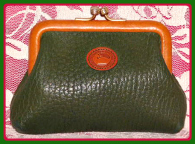 Rich Ivy Green Vintage Dooney Coin Purse AWL-Ivy Green Vintage Dooney Coin Purse AWL