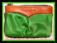 Shimmering Emerald Green Small Coin Purse Keychain NEW!-Green Small Coin Purse Keychain NEW, dooney bourke coin case, dooney coin purse