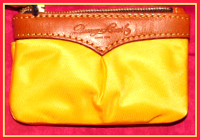 Tart & Juicy Lemon Yellow Small Coin Purse with Keychain NEW!-Dooney and Bourke