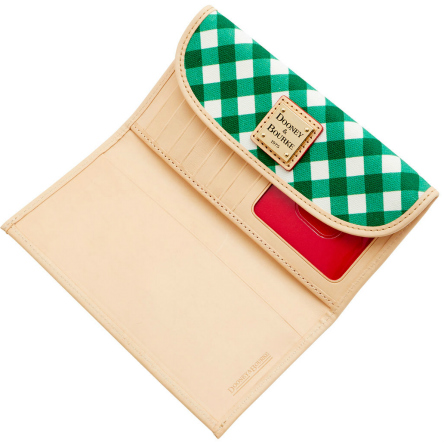 Dooney Bourke Gingham Continental Clutch Wallet