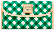 Irish Shamrock Green Gingham Continental Clutch Wallet NEW!-Gingham Continental Clutch,Dooney Bourke Gingham Continental Clutch Wallet