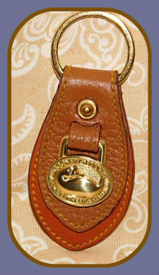 Stone-Ground Wheat Vintage Dooney Duck Fob-Vintage Dooney Duck Fob,Dooney and Bourke All Weather Leather