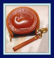 Mighty Little Navy Blue & Tan Big Duck Vintage Dooney Coin Purse