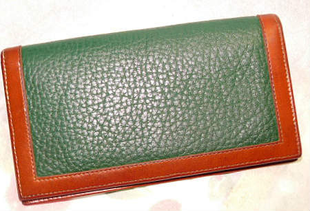 Fir Green Dooney & Bourke AWL Checkbook Cover