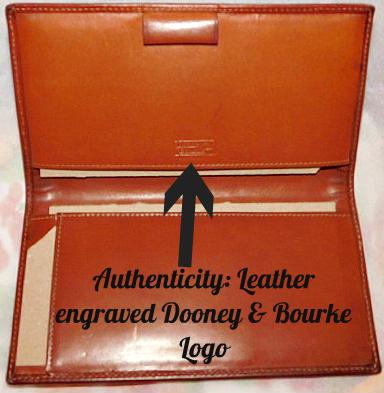 Fir Green Dooney & Bourke AWL Checkbook Cover