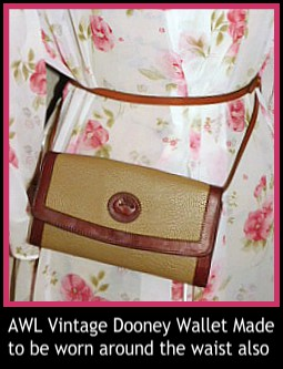 Vintage Dooney and Bourke  Vintage Dooney All-Weather Leather  Wallet on a String