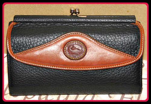 Vintage Dooney and Bourke AWL  Vintage Collection  Vintage Checkbook Organizer
