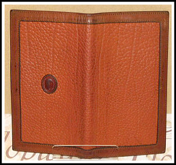 Dooney & Bourke All-Weather Leather Checkbook Cover Peanut & British Tan Trim