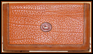 Eye Catching Marmalade Cider Vintage Dooney Checkbook Cover- Dooney & Bourke All-Weather Leather