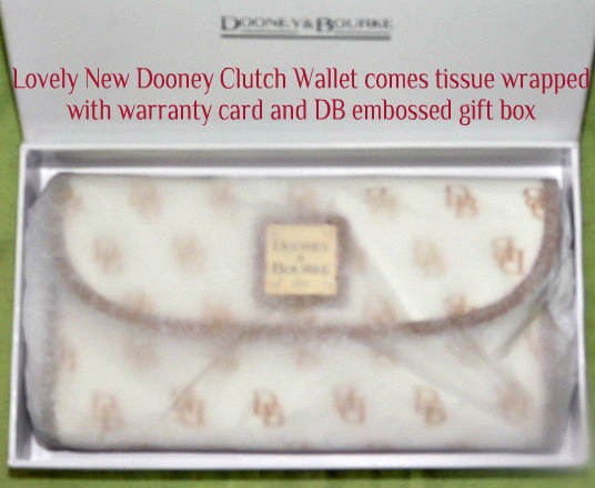 Dooney & Bourke Gretta Continental Clutch  Wallet