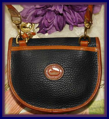 Vintage Dooney and Bourke  All-Weather Leather  Mini Flap Bag