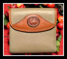 Choice Truffle Vintage Dooney Credit Card Wallet-Vintage Dooney Credit Card Wallet
