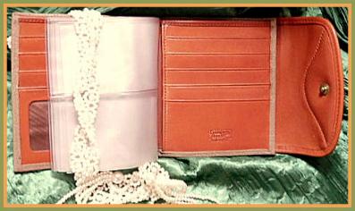 Vintage Dooney Taupe Bi-Fold Wallet