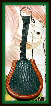 Ivy Green Horseshoe Double Key Fob Vintage Dooney