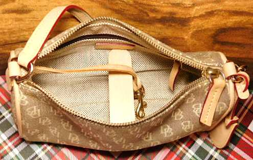 Dooney and Bourke  Mini Signature Collection  Mini Barrel Handbag