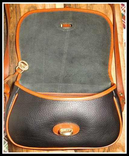 Black Equestrian Style Over & Under Vintage Dooney Bag