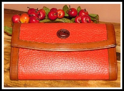 Red Raspberry Tart Dooney Checkbook Organizer