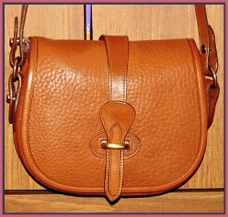 Sumptuous Spiced Apricot Tack Bag Dooney Bourke AWL