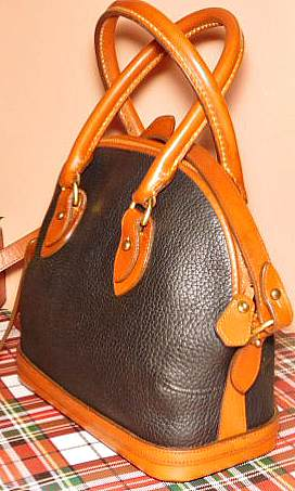 Black Licorice Twist Norfolk Vintage Dooney Satchel & Shoulder Bag