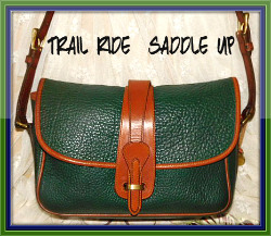 Trail Ride Arugula Green Equestrian Dooney & Bourke AWL Over Under Bag-fir green Equestrian, Dooney & Bourke, AWL, Over, Under, Large, Purse,Dooney and Bourke All-Weather Leather Equestrian Handbag