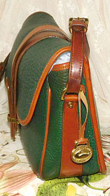 All Weather Leather Dooney and Bourke  Large Equestrian Over & Under Bag