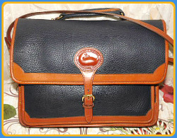Vintage Dooney and Bourke All-Weather Leather Surrey Portfolio-Vintage Dooney and Bourke