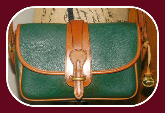 Vintage Dooney Bourke  All-Weather Leather  R53 Small Equestrian Shoulder Bag