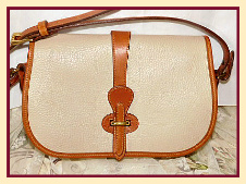 Timeless Antique Linen Dooney Over & Under Shoulder Bag-Vintage Dooney and Bourke,