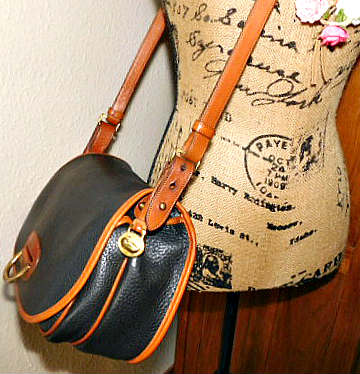 Vintage Dooney and Bourke   All-Weather Leather  Large Horseshoe Bag