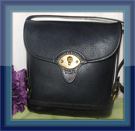 Blue Large Spectator Vintage Dooney Bag