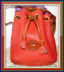 Scarlet O'Hara Mini Drawstring Vintage Dooney Bag AWL-Dark, Taupe, Mini Drawstring, Vintage, Dooney Bag, AWL, Vintage Dooney Bag, Vintage Dooney & Bourke
