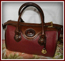 Dishy Primrose Vintage Dooney Satchel Shoulder Bag-Vintage Dooney and Bourke