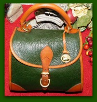 Breathless Emerald Vintage Dooney Carpet Bag-Vintage Dooney Carpet Bag,Vintage Dooney and Bourke